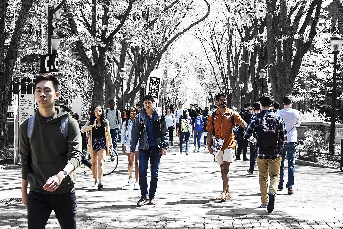 Janelle_Tong_Photography_Tony_Ward_Studio_Political_Project_UPenn_3_Student_Diversity_Locust_Walk_Walking_DP_Compass