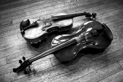 Janelle_Tong_Photography_Tony_Ward_Studio_Still_Life_UPenn_Houston_Hall_Violin_Traditional_Carbon_Fiber_Yin_Yang_Balanced_Birdseye_View_Black_and_White_5