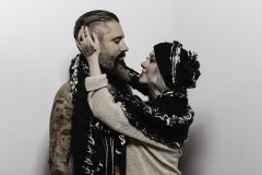 ALEXIS_MASINO_UPENN_TONY_WARD_FASHION_PHOTOGRAPHY_FINE_ARTS_OLD_SCHOOL_SHIRT_MAKERS_KEVIN_STEWART_KAY_DAVIS_CLOTHES_CLOTHING_CLOTHIERS_KNITWEAR_KNIT_SCARF_SCARVES_HAT_HATS_WINTER_MODEL_BEARD_TATTOOS_COUPLE_4