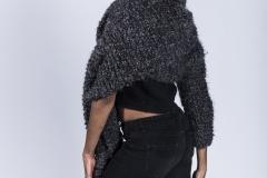 Jessica_Moh_Tony_Ward_Studio_Fashion_Photography_Kevin_Stewart_Kay_Davis_Female_Model_Knit_Scarf_One_Sleeve_Back_Profile