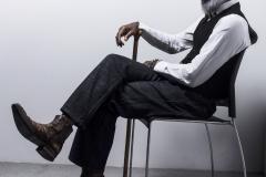 Jessica_Moh_Tony_Ward_Studio_Fashion_Photography_Kevin_Stewart_Kay_Davis_Male_Model_Sitting_Cane_Old_School_Shirt_Makers_Bowtie_Full_Side_Profile