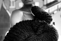 RIA_VAIDYA_KEVIN_STEWART_OLD_SCHOOL_SHIRTMAKER_NEWYORK_KNIT_WEAR_KAY_DAVIS_GIRL_BLACKANDWHITE_B&W_SWEATER_POSE