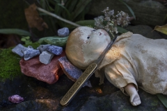 matt_garber_still_life_kinfe_doll_stones_lay_death_nature_moss_macro
