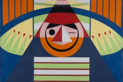 Milt_Ward_graphic_paintings_family_legacy_project_acrylic_africa_american_artist_designer_modernist_smiling_clown