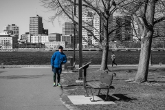 Rebecca_Huang_Boston_Charles_River_Runner_selective_black_and_white