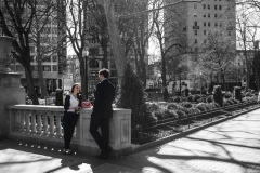 Rebecca_Huang_Philadelphia_Rittenhouse_Square_Lunch_break_Office_sunny_selective_black_and_white_color