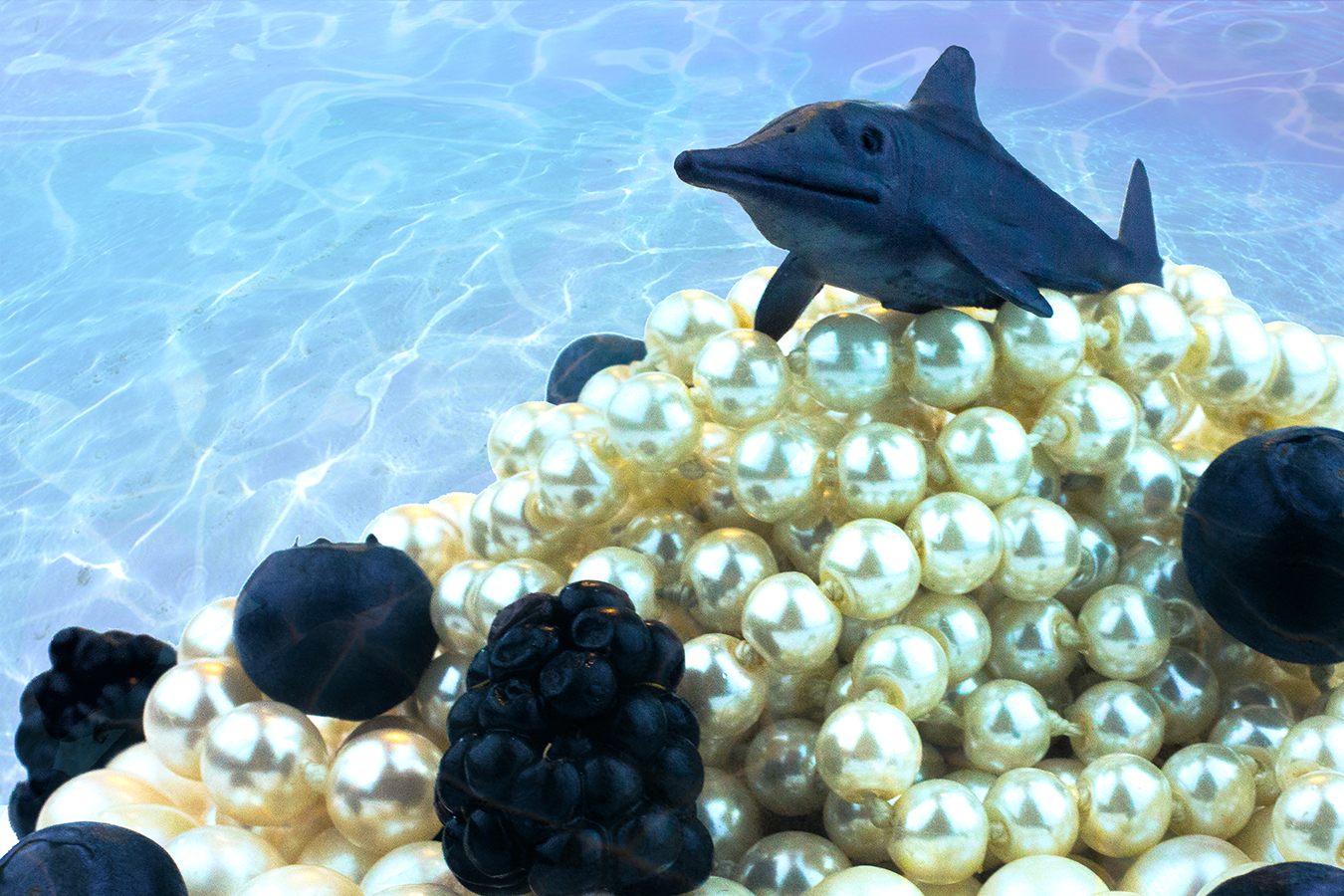 Victoria_Meng_Project2_Blue_Shark_Dinosaur_Pearls_Caviar_Underwater_Blueberries