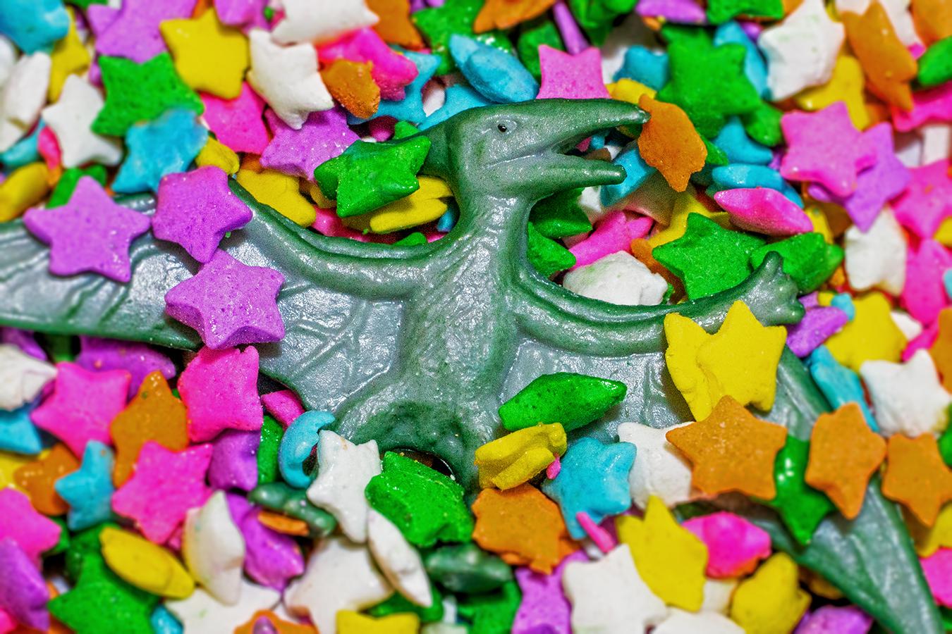 Victoria_Meng_Project2_Sprinkles_Dinosaur_Still_Life_Rainbow_Macro_Pteradon_Bokeh_Candy