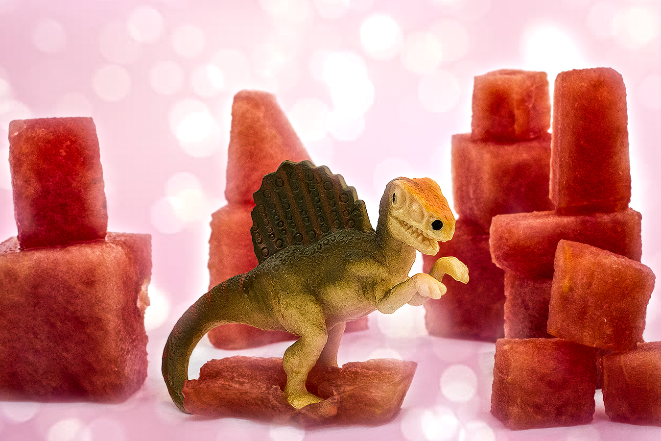 Victoria_Meng_Project2_Watermelon_Dinosaur_Sparkle_Pink_Pastel_Still_Life_Light