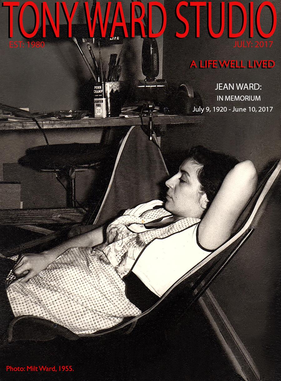 Tony_Ward_Studio_In_Memorium_Jean_Ward_July_2017_cover_photography_Milt_Ward_1955_black_white_portrait