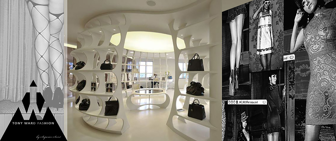 Tony Ward Erotica, Tony Ward Studio, conceptual store design by Christian Beiersdorf for Superior Saint, Berlin.