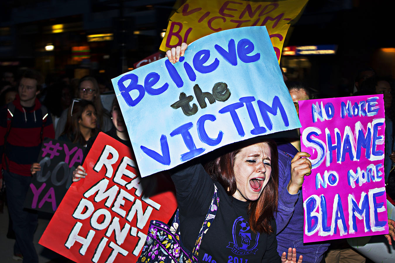 take back the night. Protest at the U of Penn