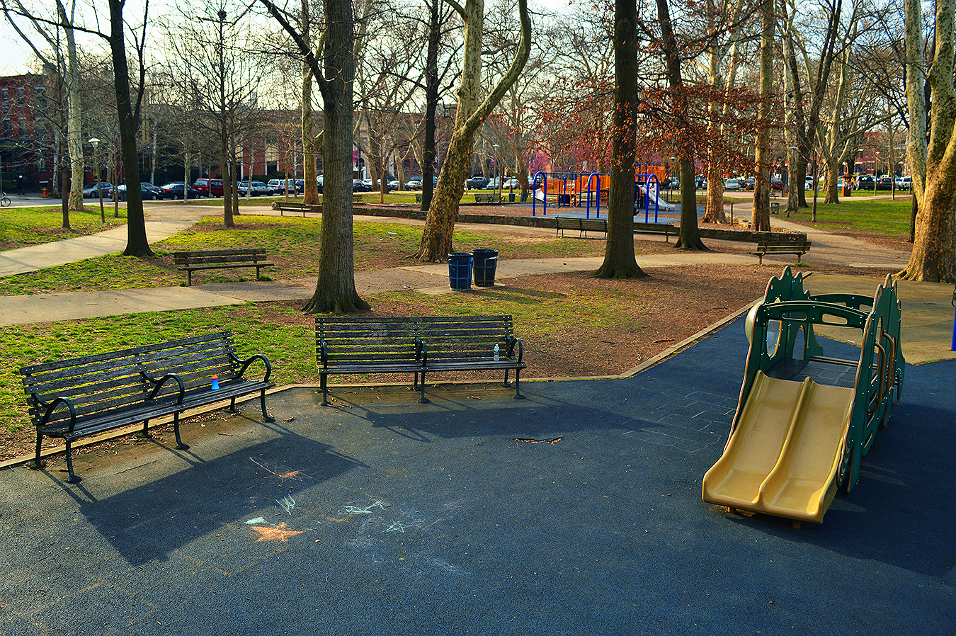Playground_Clark_Park_Benches_Slide_Wide_View_Philadelphia_PA