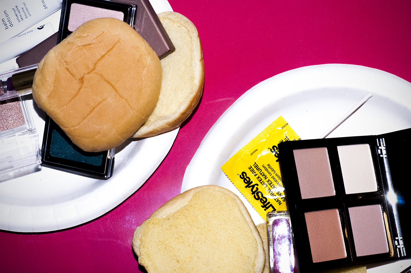 Noel_Zheng_photography_student_upenn_Tony_Ward_Studio_flash_photography_still_life_fashion_domestic_feminism_equality_makeup_burger_junk_food_beauty_pop_art