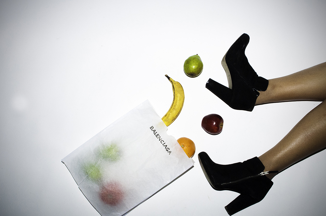 Noel_Zheng_photography_student_upenn_Tony_Ward_Studo_photography_still_life_fashion_domestic_feminism_equality_makeup_beauty_high_heel_shoes_boots_legs_kitchen_grocery_shopping_fruit_balenciaga