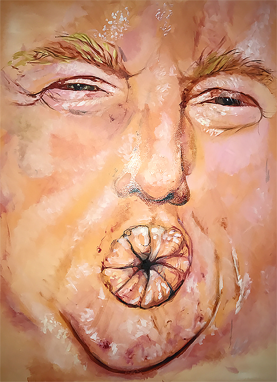 Tony_Ward_studio_artwork_Taqiy_Mohammad_Trump_kiss_A.H.Scott_painting_satire_poetry_anti_president