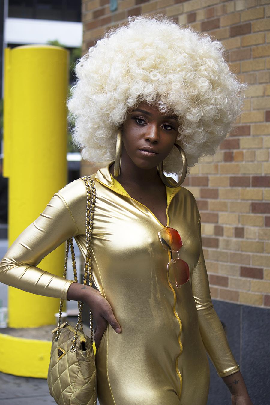 Sharon_Song_New_york_fashion_week_blond_afro_wig_Tony_Ward_Studio