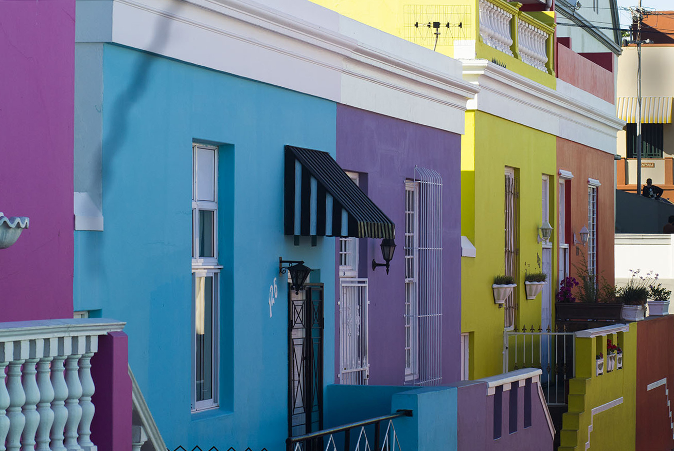 Colorful houses in the Bo-Kaap neighborhood