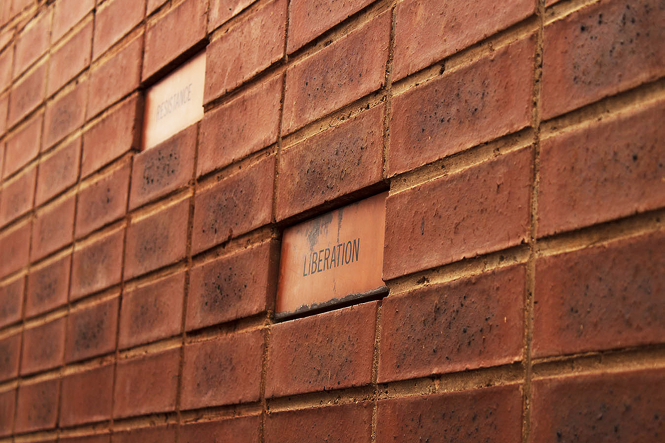 Words inscribed on the wall of Nelson Mandela's house in Johannesburg
