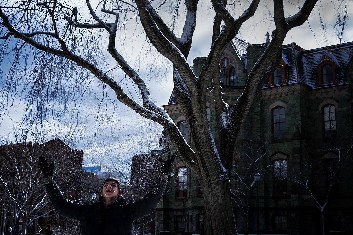 Alexander_Liu_photography_Matthew_Anderson_happy_snow_sky_College_Green_Philadelphia_Upenn_emotions