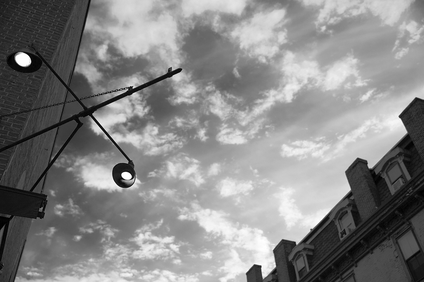12_Light Sky_Casey Egner_Street Photography_Ornament_Black and White_Light fixture_facade copy