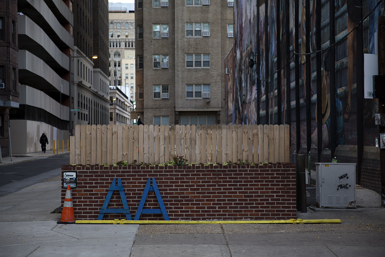 8_Lone Wall_Casey Egner_Street Photography_Ornament_Brick Wall_Figure_Barrier copy