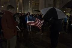 Flag_Casey_Egner_Election_2016_Protest_Despair_Crowd_Phialdelphia