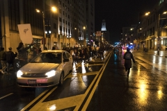 Runner_Casey_Egner_Election_2016_Protest_Car_Figure_Crowd_Broad street_Philadelphia