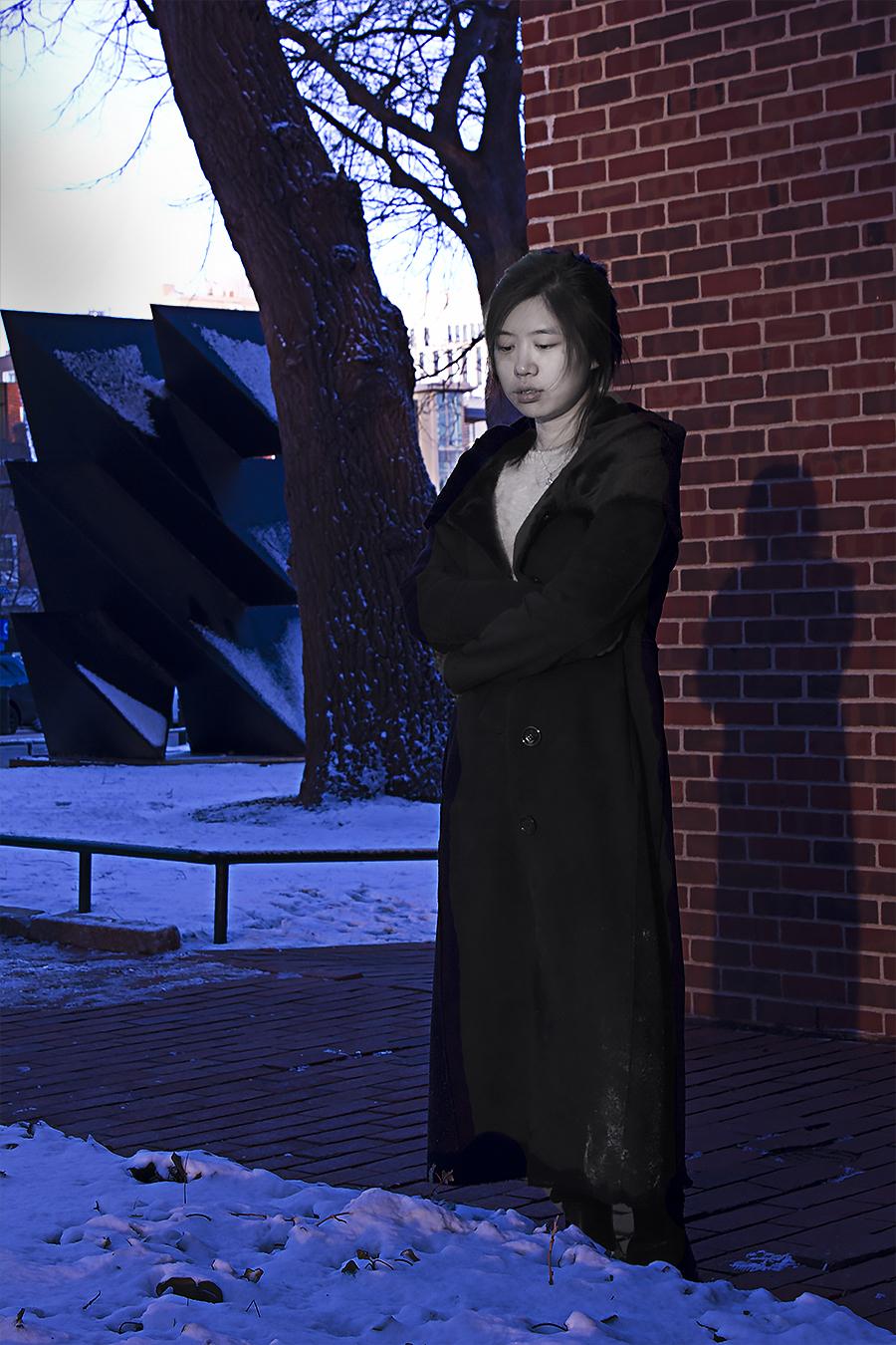 Hong_Li_Photaraphy_Class_Despair_Snowstorm_Portraiture_Feburary_9_2017_Location_Meyerson_Hall_School_Of_Design