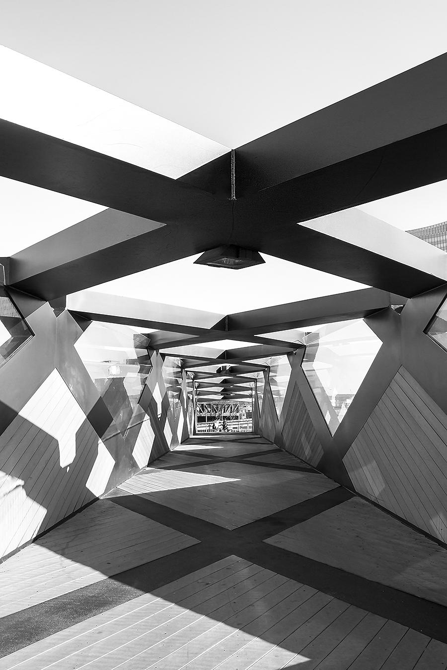 Janelle_Tong_Photography_Tony_Ward_Studio_Individual_Project_UPenn_Penn_Park_Bridges_Skyline_Bridge_Crosses_Perspective_Black_and_White