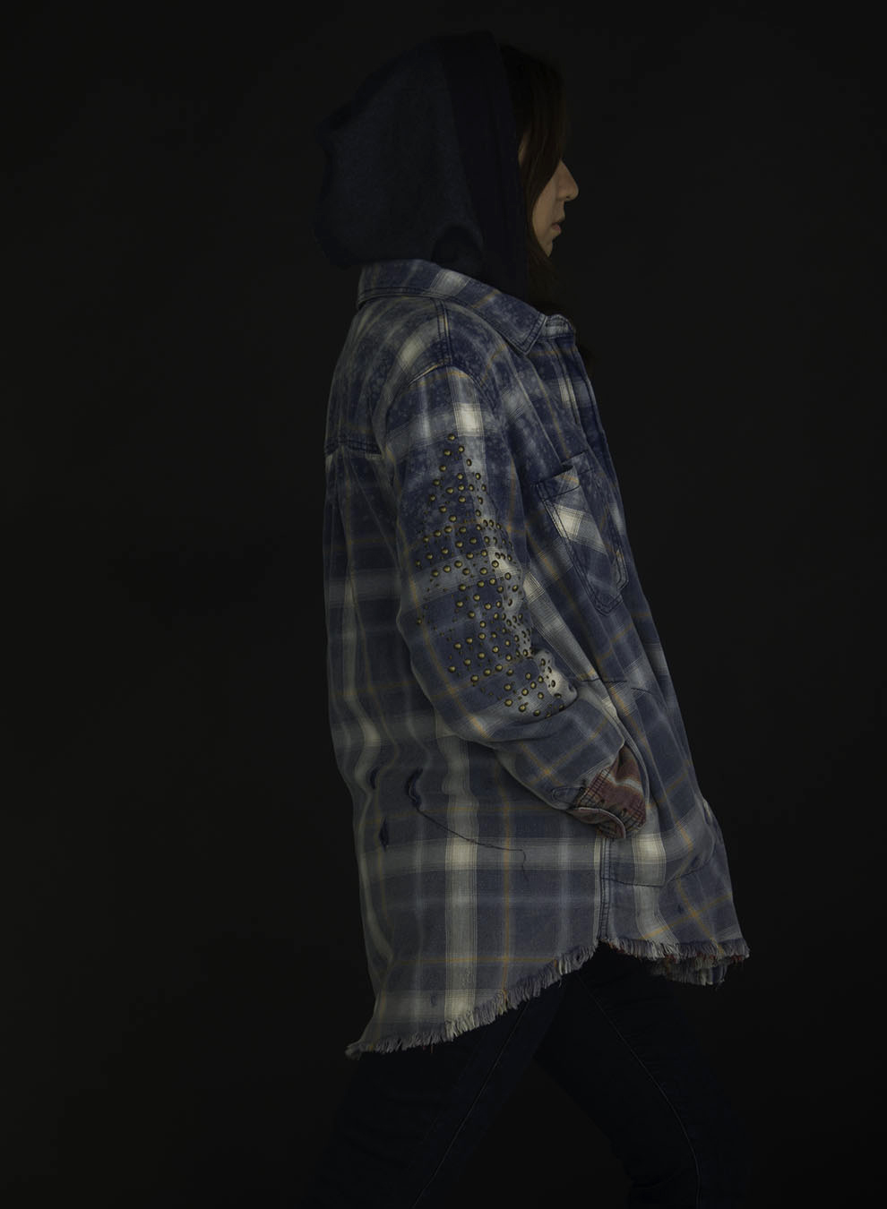 Joy_Lewis_fashion_JACKETS_FLANNEL_WITH_HOOD_HANDS_IN_POCKETS