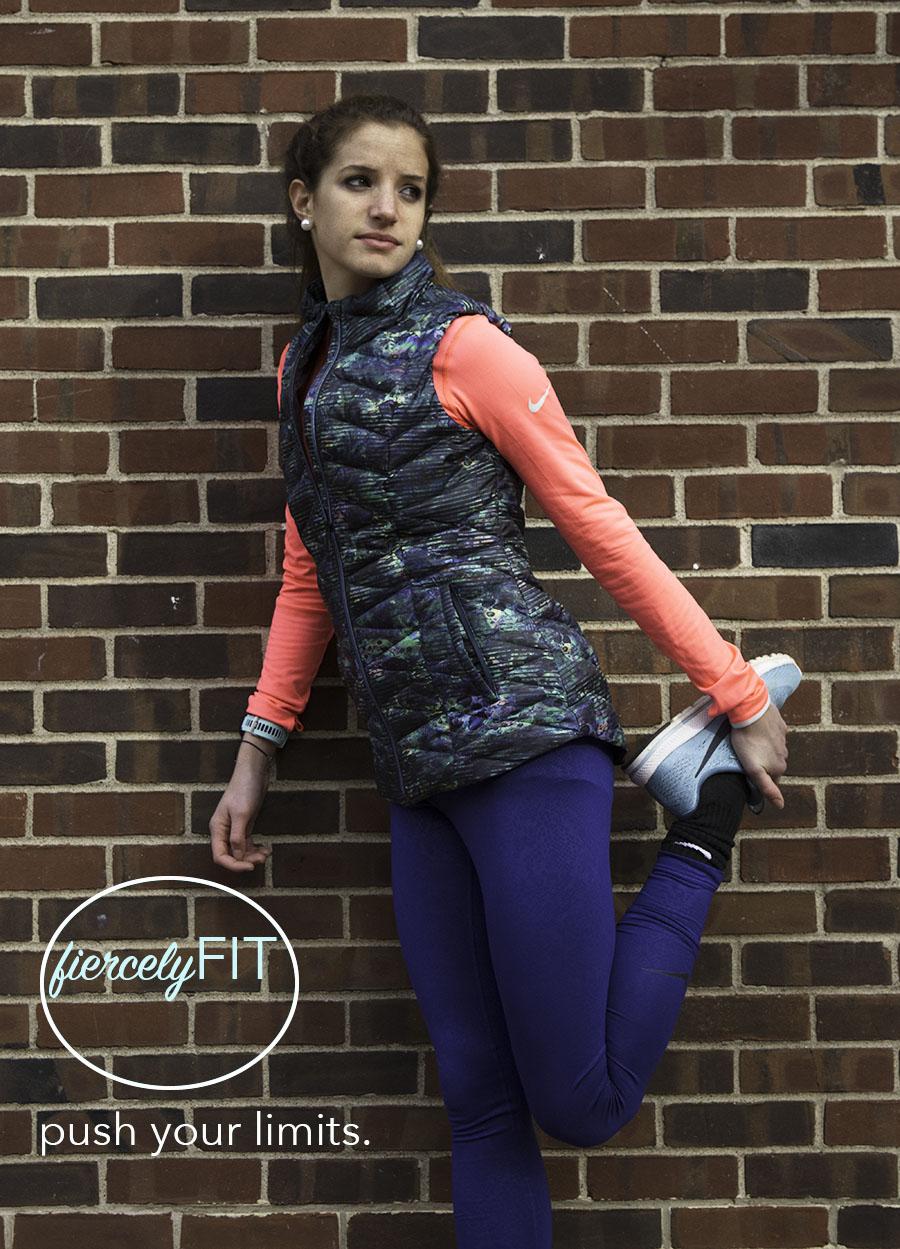 Joy_Lewis_Branding_Athletic_Wear_Fiercly_Fit_Stretching_Leg_Against_Wall