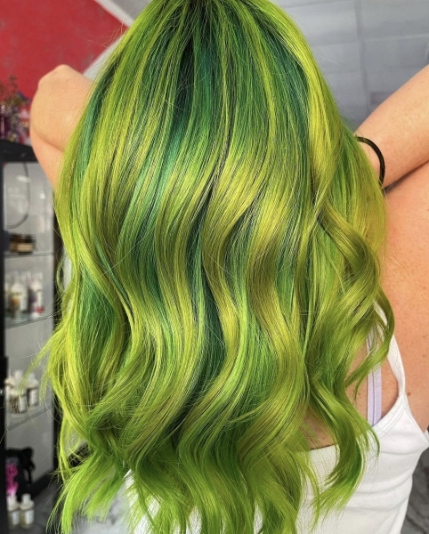 Modern_green_hairstyle_heavy_metal_salon_philly