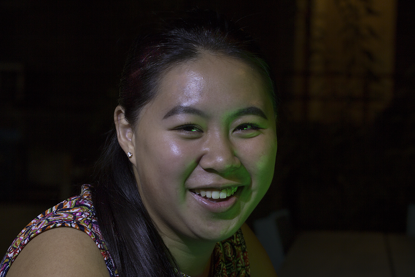Matt_Garber_portrait_happiness_emotion_girl_night_green_light_joy_close_up