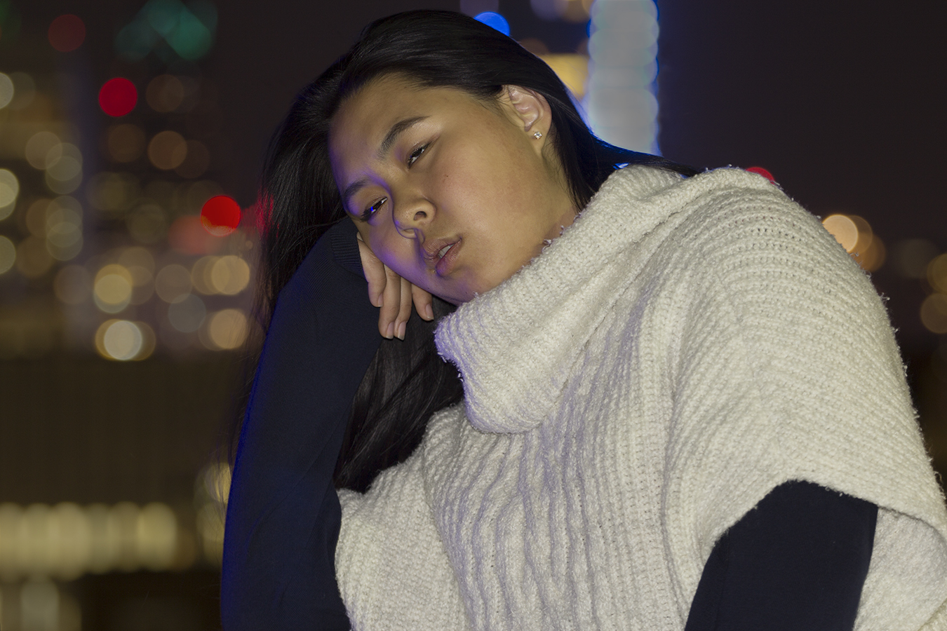 Matt_Garber_portrait_sadness_blue_light_skyline_girl_night