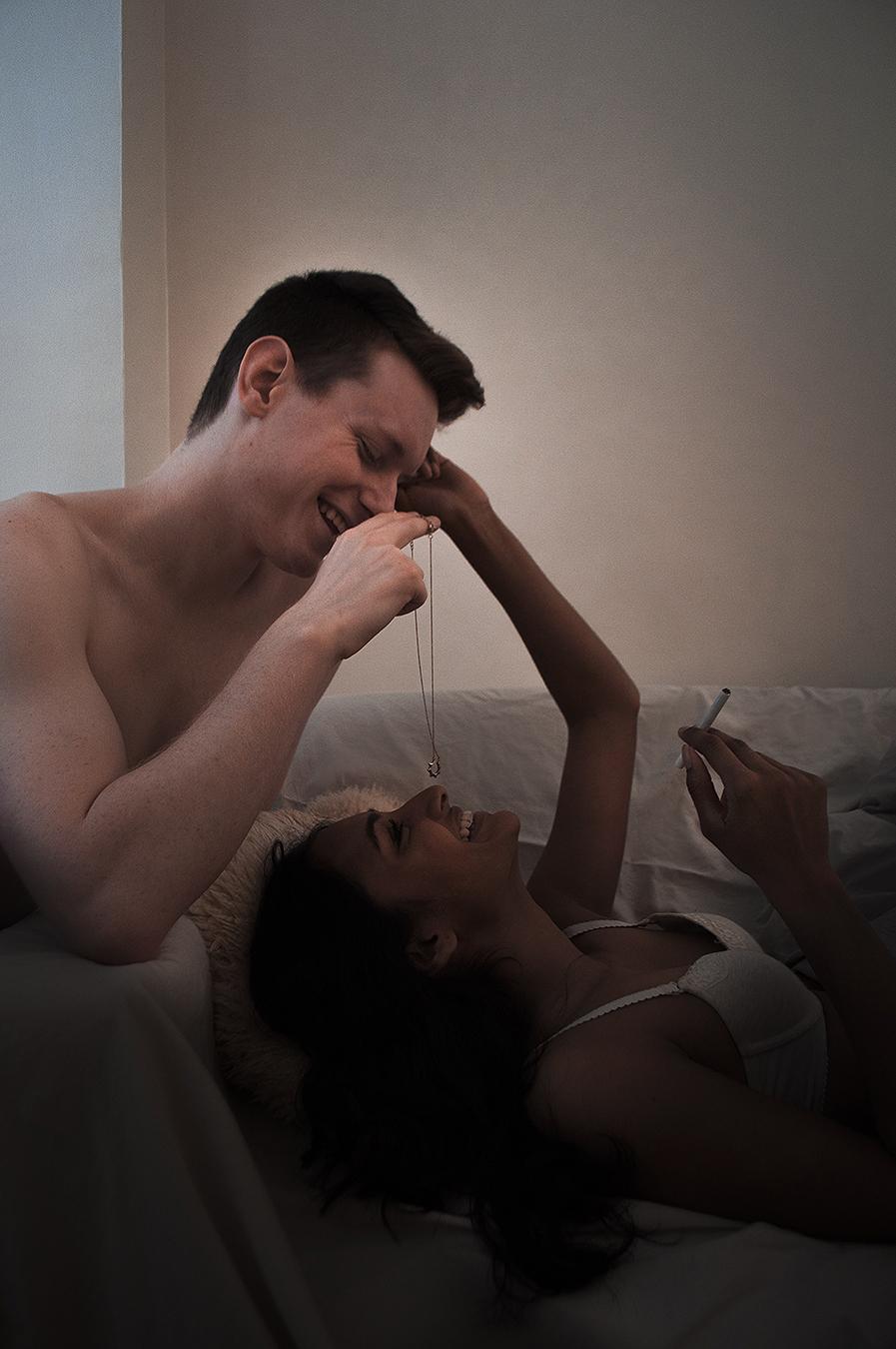 Noel_Zheng_photography_student_upenn_university_of_pennsylvania_Tony_Ward_Studio_Isuru_Amarasekera_Thomas_Calder_war_emotion_happiness_love_lingerie_necklace_cigarette_smoking_sofa_couch