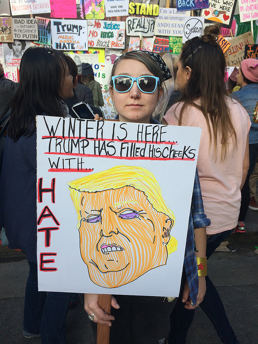 Racquel_Ward_photography_writing_journalism_acting_directing_screenwriter_women_are_perfect_women's_march_january_21_2017_Trump_hate