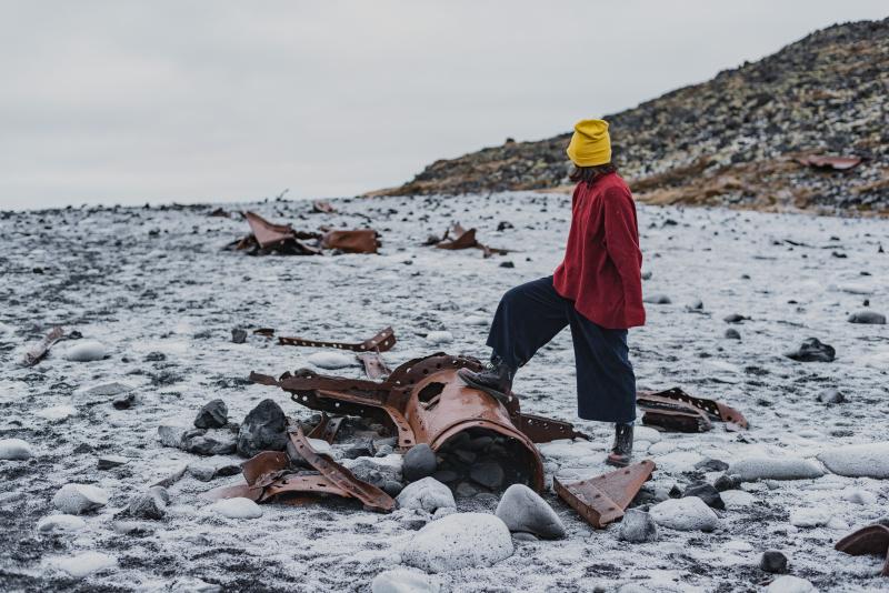 Tina-Iceland-Travel-Winter-BlackBeach-Snow-IndustrialParts