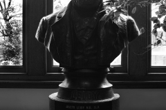 Tyler_Ling_photography_places_science_biology_upenn_Joseph_Leidy_statue_founder_medical_doctor_historical_black_white