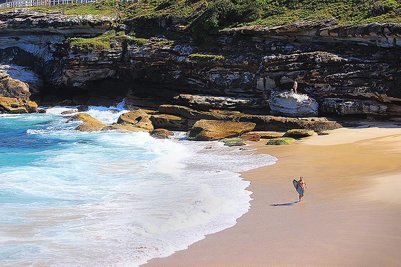 Australian surfer on beach