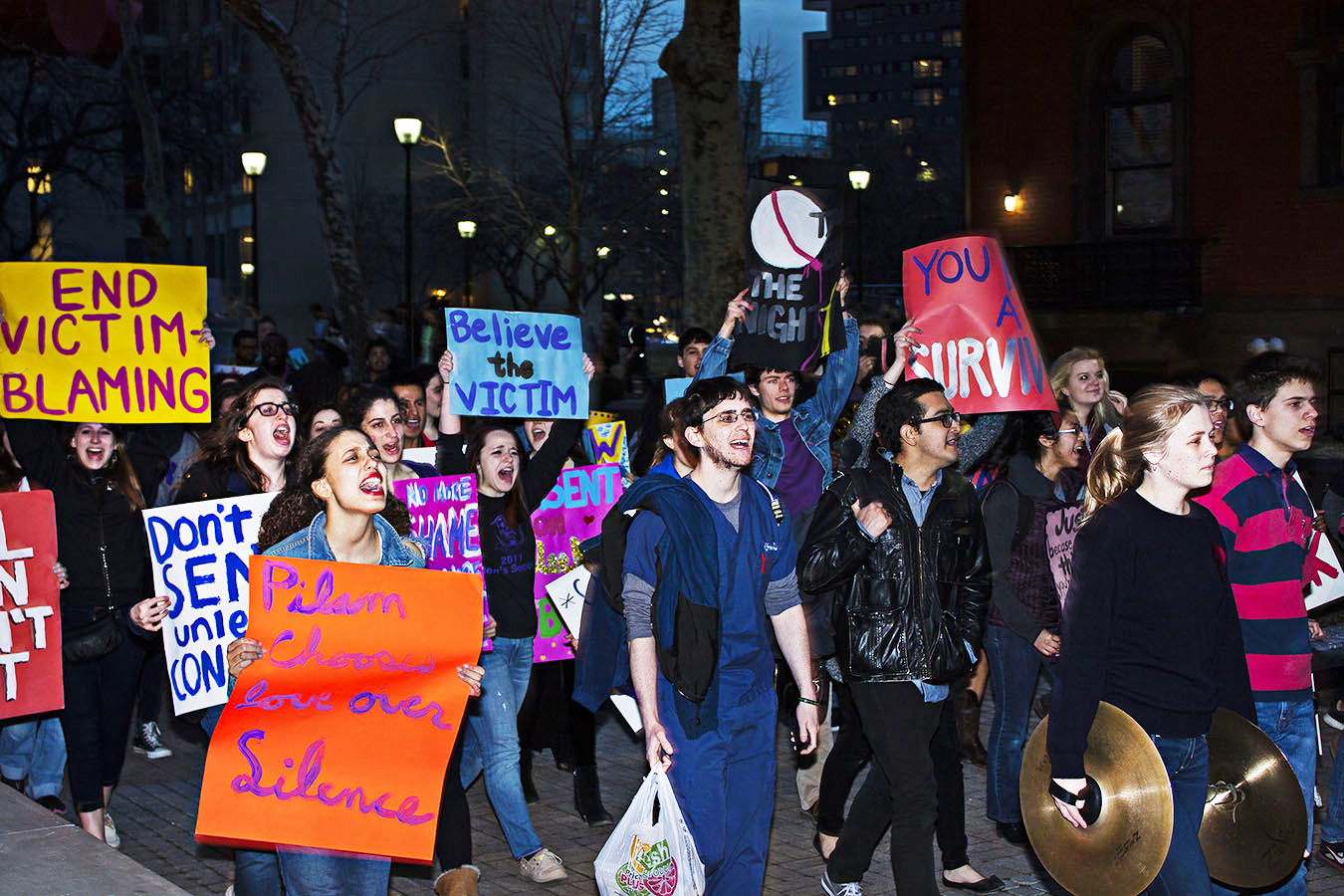 take back the night. Student protest at Upenn