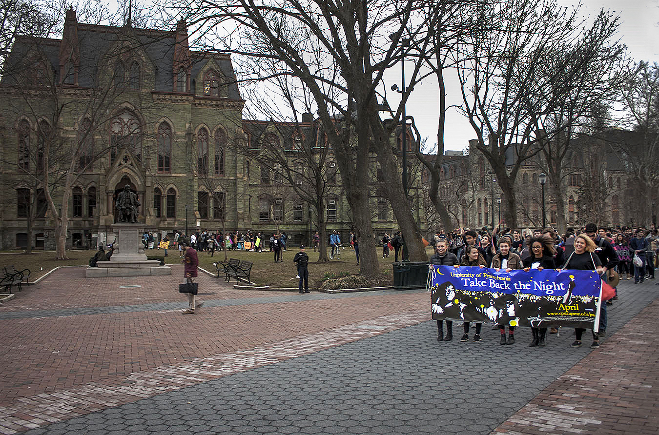peaceful protest college hall Upenn