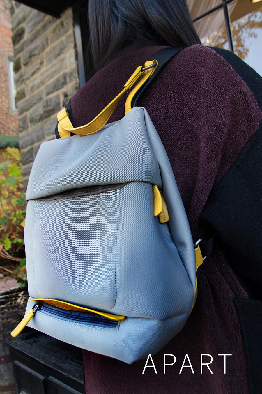 backpack fashion shoot