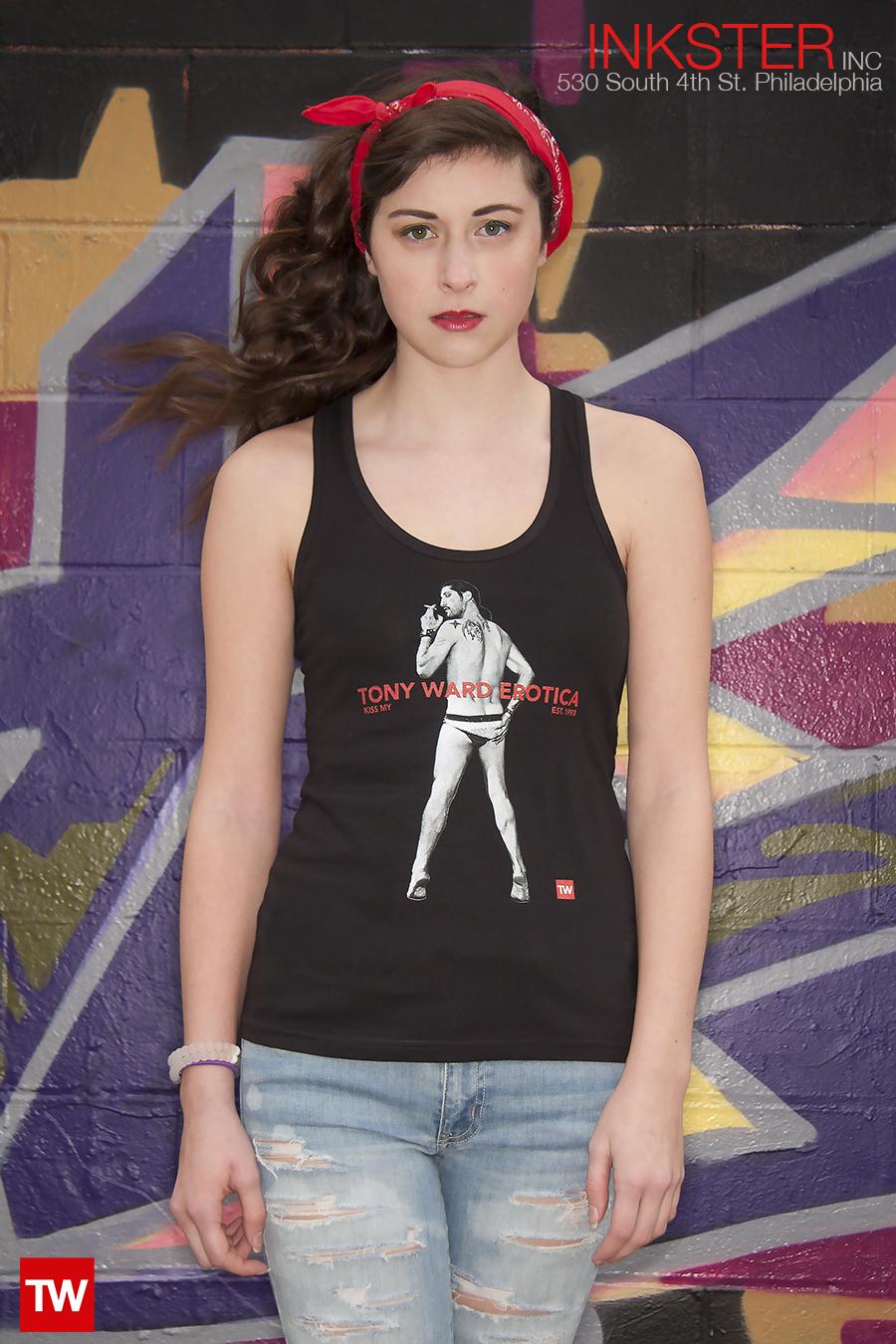 Tony Ward Erotica T-shirt ad new kiss my tee