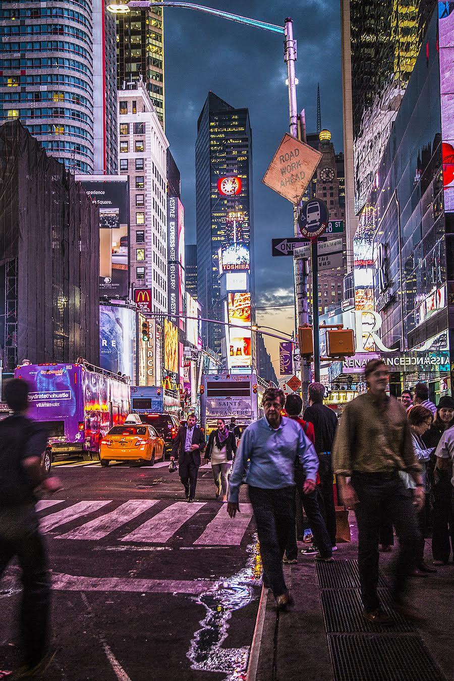 chinatown new york at night street lights