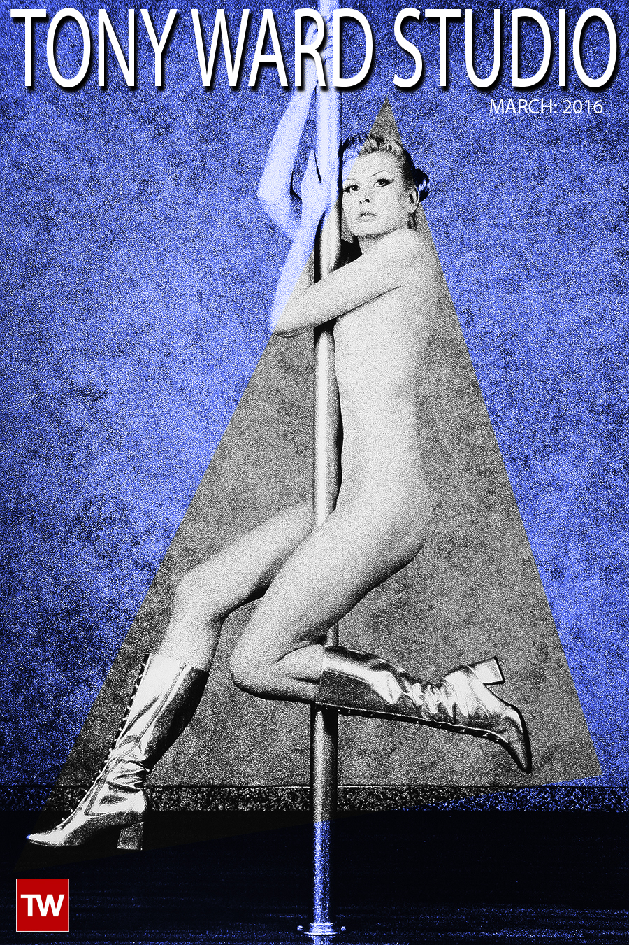 Tony_Ward_photography_studio_cover_march_2016_early_work_casting_calls_nudes_silver_boots_pole_dancing_art
