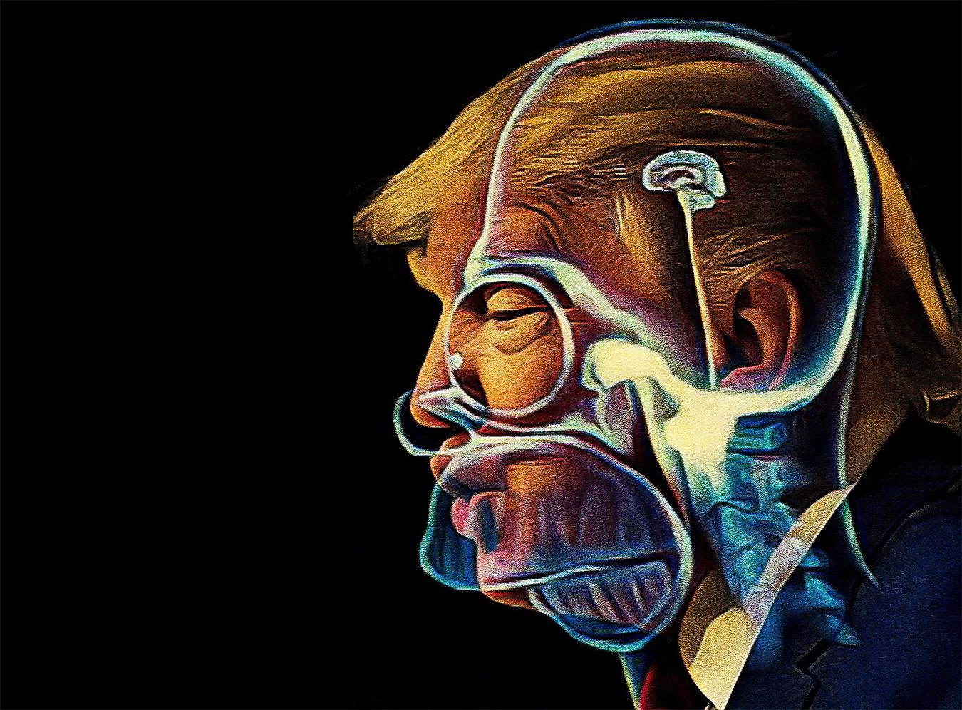 Artwork_Eustace_Pilgram_Trump_bad_President_brain_vortex_illustration_cool_art_politics