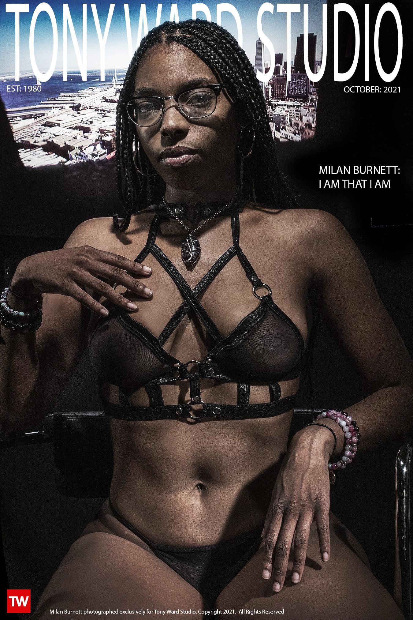 cover photo of model Milan Burnett