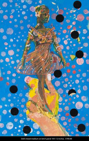 Mikel_Elam_painting_modern_primatives_mixed_medium_on_birch_panel_18x12_inches_DOLL-5.jpg